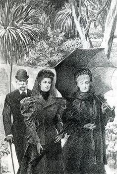 L'impératrice Eugénie, l'impératrice Elisabeth d'Autriche et l'empereur François Joseph au Cap Martin - Eugénie de Montijo — Wikipédia