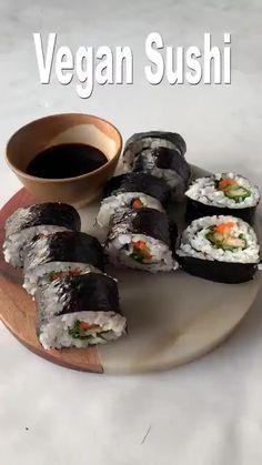 Sushi Recipes, Vegan Dinner Recipes, Veggie Recipes, Whole Food Recipes, Cooking Recipes, Healthy Recipes, Vegan Recipes Videos, Recipes With Tofu Vegan, Firm Tofu Recipes