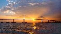 The Sutong cable-stayed bridge is the Primary Fairway Bridge of the Suzhou-Nantong Yangtze River   Bridge Project in China.