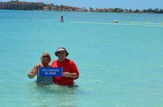 Hubby and I, St Maarten, 3-15-2014
