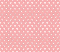 Sweet vintage baby girl bow pink fabric by littlesmilemakers on Spoonflower - custom fabric