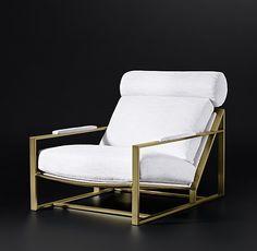Milo Baughman Model #3418, 1965 Fabric Chair