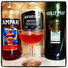 Negroni: Aviation gin, vermouth, Campari # negroniweek #cocktails #aviationcocktailgin