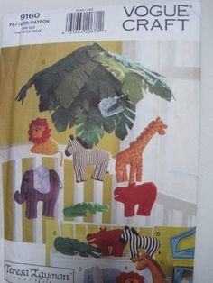 Vogue Pattern 9160 Jungle Animal Pillows & Mobile Vogue Craft Pattern,http://www.amazon.com/dp/B00DQAH4PK/ref=cm_sw_r_pi_dp_Lf1rtb059ZGVQSDN