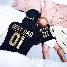 Best DAD Best SON matching family shirts, Best DAD Best SON dad and baby shirts, dad and baby matching outfits, Father and SON matching shirts