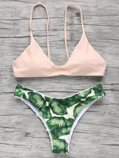 SHARE & Get it FREE | Spaghetti Straps Palm Tree Bikini - Light Apricot PinkFor Fashion Lovers only:80,000+ Items • New Arrivals Daily Join Zaful: Get YOUR $50 NOW!
