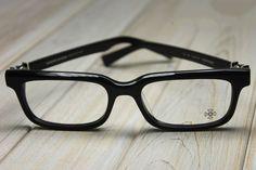 f3a4b6d54803 CHROME HEARTS PONTIFASS BLACK Glasses Eyewear Eyeglasses Frame Sterling  Silver