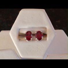 Cristo Gems And Jewelry New Extra Fine Rhodolite Garnet Earrings 8x6 mm 3.1 ct tw sterling silver Jewelry Earrings