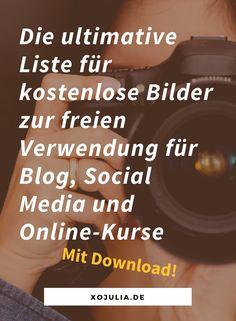 Ultimative Liste für kostenloses, lizenzfreies Bildmaterial