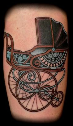 I have always thought about getting a baby carriage tattoo.  Because I have like 84 kids.