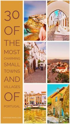 Read the article to find out about 30 of the Most Charming Small Towns and Villages of Portugal. They're beautiful, calm, serene. The perfect trip addition. Europe Destinations, Europe Travel Tips, European Travel, Places To Travel, Places To See, Algarve, Portugal Vacation, Portugal Travel Guide, Portugal Trip