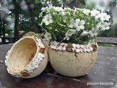 Übertöpfe - Keramik Pflanzschalen Übertopf Set - ein Designerstück von Keramik-Biene bei DaWanda