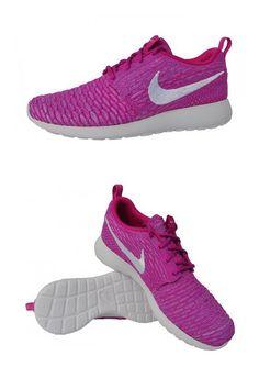 8592dbf7d23c  179.95 - Nike Women s Rosherun Flyknit Running Shoes Fuschia Flash White  Atomic Purple (7.5)  shoes  nike  2011
