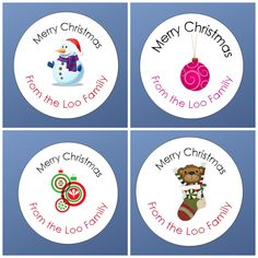 A personal favorite from my Etsy shop https://www.etsy.com/listing/245449174/custom-christmas-stickers-merry