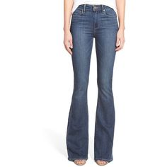 GUESS Charlotte Flare Jeans in Conway Wash ($98) ❤ liked on ...