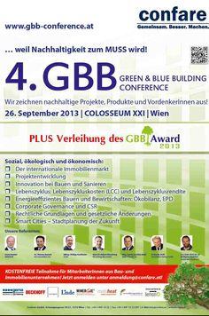Die Auszeichnung für #Nachhaltigkeit im Bauwesen - Einreichen auf www.gbb-award.at Innovation, Amy, Events, Messages, Green, Civil Engineering, Sustainability, Text Posts