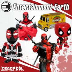 LOTS of Deadpool stuff available at Entertainment Earth / MasksandCapes.com
