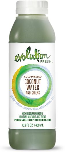 Coconut Water and Greens - Coconut water enlivened with greens and a touch of pineapple.