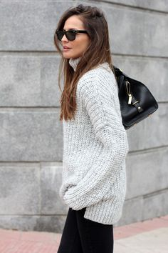 oversized jumper | Lady Addict en stylelovely.com