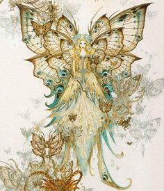 Mystery of silence - Fairy Artwork by Olivier Ledroit Art And Illustration, Magical Creatures, Fantasy Creatures, Fairy Dust, Fairy Tales, Elfen Fantasy, Fantasy Magic, Fantasy Fairies, Elves And Fairies