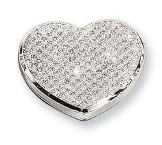 White Glitter Heart Compact Mirror Perfect Gift Idea goldia. $36.28