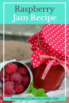 Raspberry jam is one of the fastest preserves a person could make. This recipe proves that canning can be quick, easy, and is a simple extension of the cooking process. Click through for the recipe to learn how to make quick and easy raspberry jam! Salsa Canning Recipes, Pressure Canning Recipes, Blackberry Jam Recipes, Strawberry Jam Recipe, Easy Canning, Canning 101, Canning Peaches, Fruit Jam, Raspberry