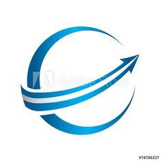 3D global arrow logo - Buy this stock vector and explore similar vectors at Adobe Stock | Adobe Stock Arrow Logo, Vectors, Adobe, Finance, 3d, Explore, Logos, Stuff To Buy, Image
