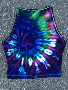 large tie dye crumple crop top. Black Bedroom Furniture Sets. Home Design Ideas