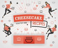 Cheesecake recipes and orange flat illustration Premium Vector Orange Flats, Recipe Cover, Flat Design Illustration, Layout Template, Templates, Orange Recipes, Cartoon Styles, Cheesecake Recipes, Banner