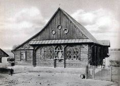 The wooden synagogue in Przedbórz (province. Lodz).