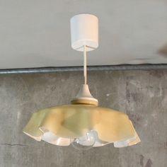 Vintage.Glass ceiling lamp. Art Nouveau style. 1980 - 1985.