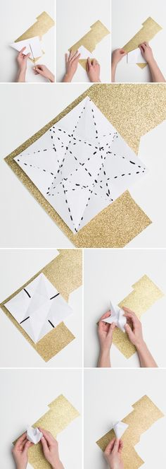 DIY: Make an origami diamond napkin ring - Brooklyn Bride - Modern Wedding Blog