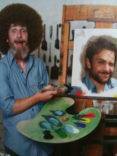 Charlie Day As Bob Ross