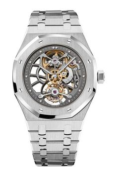 Royal Oak Tourbillon Skeleton Dial Men's Watch Audemars Piguet watch – professionals looking for authentic audemar watch, AP watch or AP watch men. Shops include info on AP watch price or either AP watch for sale and AP diamond watch. Fancy Watches, Luxury Watches, Cool Watches, Watches For Men, Men's Watches, Audemars Piguet Watches, Audemars Piguet Royal Oak, Rolex, Beautiful Watches