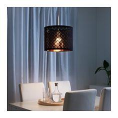 IKEA - NYMÖ, Lampeskærm, Lav din egen personlige loft- eller gulvlampe ved at kombinere lampeskærmen med et ledningssæt eller en fod efter dit valg.Skaber et dekorativt lysmønster i rummet, når lyset skinner igennem den perforerede skærm.