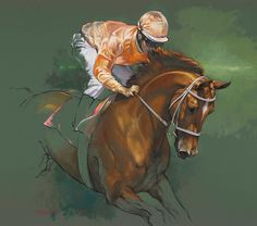 """Jaime Corum Equine Art Recently completed work, """"Chestnut Warm-Up."""" I'm proud…"""