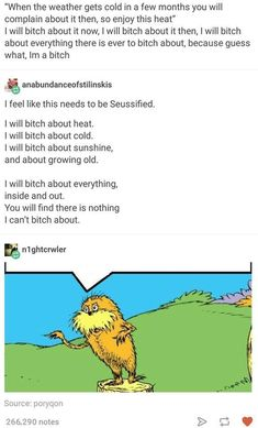 But there will never be a time I bitch about the cold...