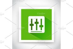 Icon of setting for web and mobile. UI Elements
