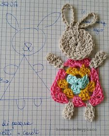 Crochet Bunny Applique Free Patterns: Easy and Quick Easter Bunny / Rabbit Applique and Motifs crochet pattern most free for Easter crochet decoration Easter Crochet Patterns, Crochet Bunny Pattern, Crochet Amigurumi Free Patterns, Cute Crochet, Crochet Motif, Crochet Designs, Crochet Flowers, Crochet Baby, Crochet Embellishments