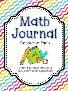 Math Journals Resource Pack | Primary Punch | {1-5}