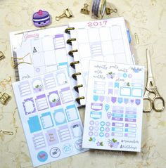 """Today, I am releasing another planner stickers """"freebie"""" printable that will fit the """"monthly"""" view layout section in your Mini Happy Planner. There are stickers that cover the individual date boxes and others that can serve as pointers to events or reminders depending on how much white space you prefer for your monthly spreads or … Continue reading Mini Happy Planner – Monthly Planner Stickers →"""