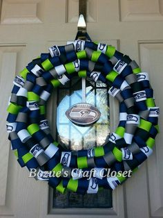 Seattle Seahawks 12th Man Wreath 12th man Seahawks and Seattle