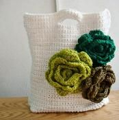 Flower Tote Bag  - via @Craftsy