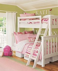 Bunk beds for girls.  This would be great at my mother's house in my old bedroom, for when the kids come over.