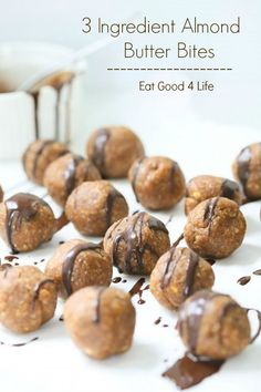 3 ingredient almond butter bites | Eat Good 4 Life