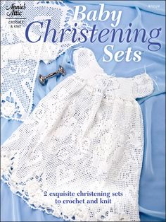 Crochet - Patterns for Children & Babies - Wearables Patterns - Baby Christening Sets, so ordering this pattern! Baby Girl Crochet, Crochet For Kids, Crochet Children, Baby Knitting Patterns, Baby Patterns, Crochet Patterns, Baby Christening Gowns, Blessing Dress, Crochet Coat