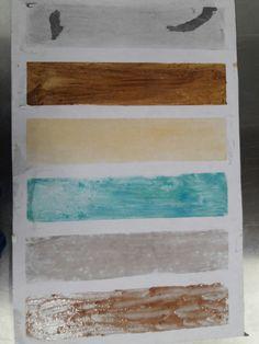 Distintos fondos experimentales como mermelada,café,resanador de madera etc.. Me Di cuenta que no Solo a pueden hacer fondos con colores