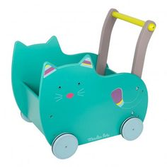 Chariot de marche chat Green  Moulin Roty