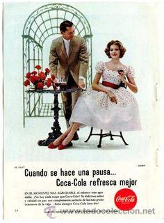 Página de publicidad Original *COCA-COLA* de la Agencia de publicidad CLARÍN  - Año 1961