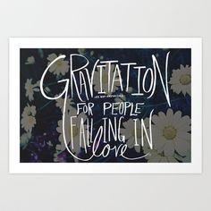 Einstein: Gravitation Art Print by Leah Flores - $16.00